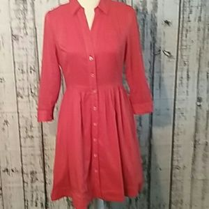 Anthropologie Reed red shirt dress rockabilly
